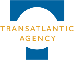 Transatlantic Agency logo image for dark background